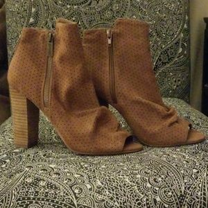 Express Open Toe Booties